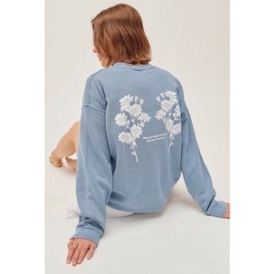 Urban Outfitters Blue Love Will Last Sweatshirt